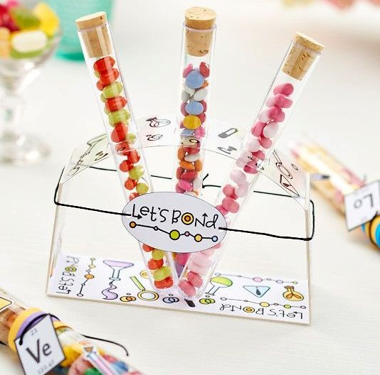 wedding favours -  test tube for shots or sweets