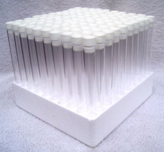 6 Inch Test Tubes with Tops & Tray Set of 100