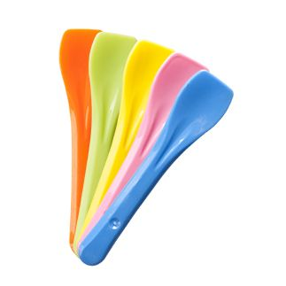 Solid colour Ice cream spoons. 95mm long